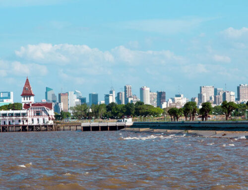 Uruguay seen from Buenos Aires